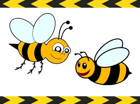 570x425 Bee Svg Files For Silhouette Cricut Downloads Clipart Vector Art