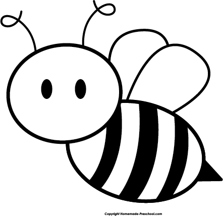 442x428 Bee Silhouette Vector Clipart In Black And White Vector Format
