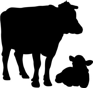 Beef Cattle Silhouette