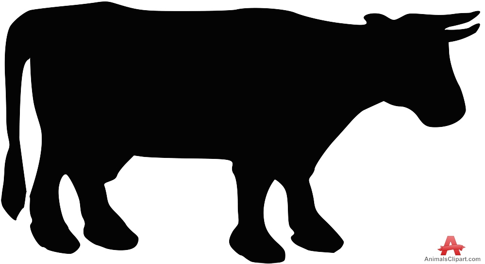 999x545 Cattle Silhouette Clipart