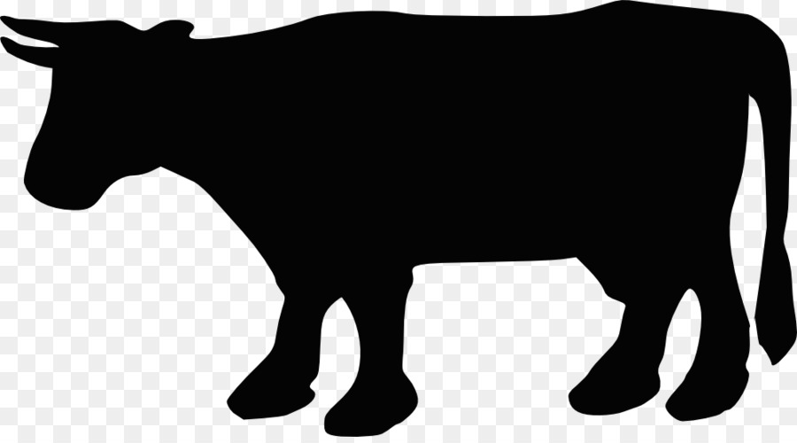 900x500 Beef Cattle Silhouette Clip Art