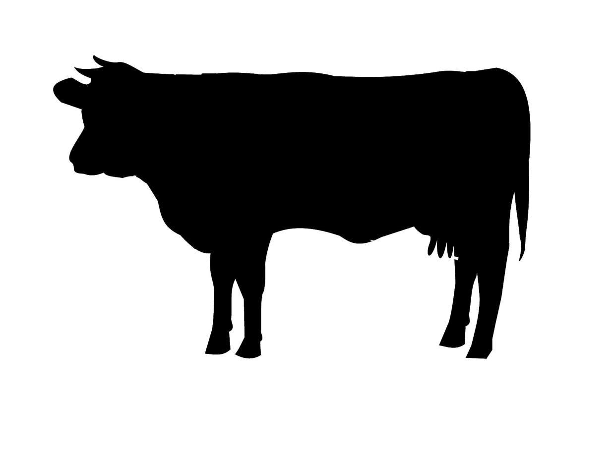Beef Cow Silhouette at GetDrawings | Free download