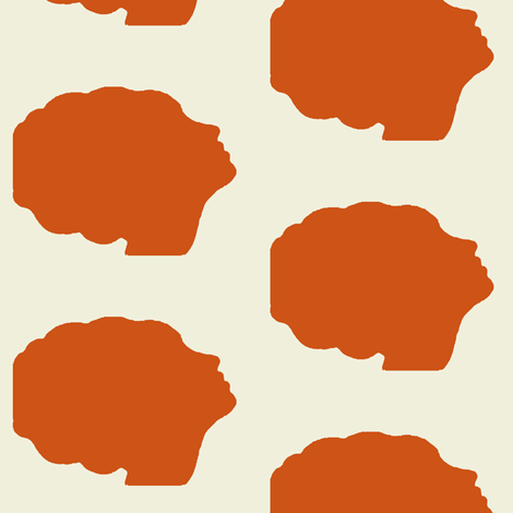 470x470 Beehive Silhouette In Orange Fabric By Mezzime On Spoonflower