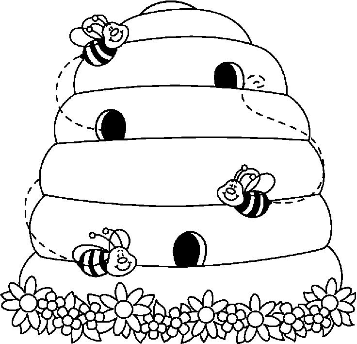 736x708 Image Of Beehive Clipart