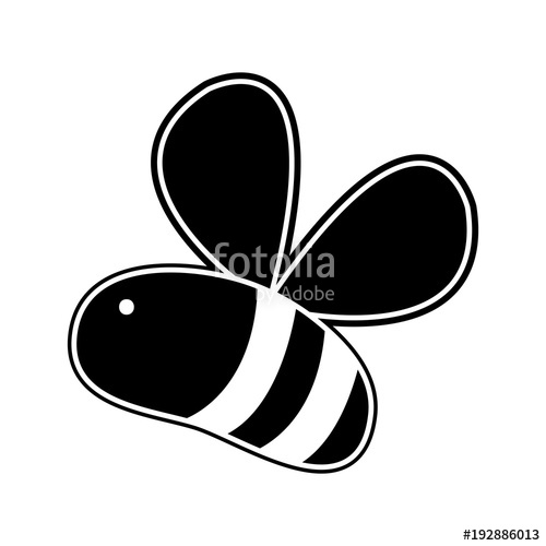 500x500 Silhouette Cute Bee Insect Animal Flying Stock Image And Royalty