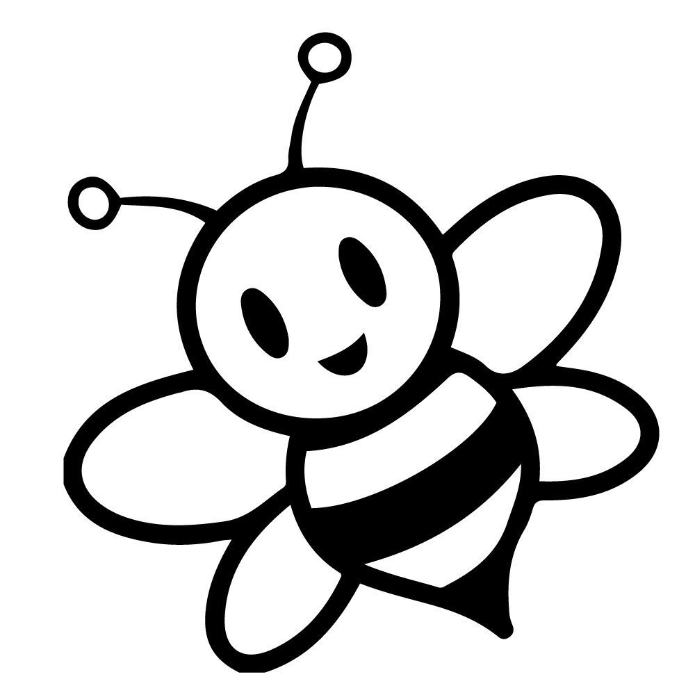 1000x1000 Bee Clipart Cartoon Images Download