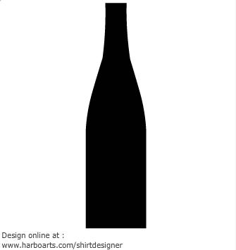 335x355 Bottle Silhouette Clipart