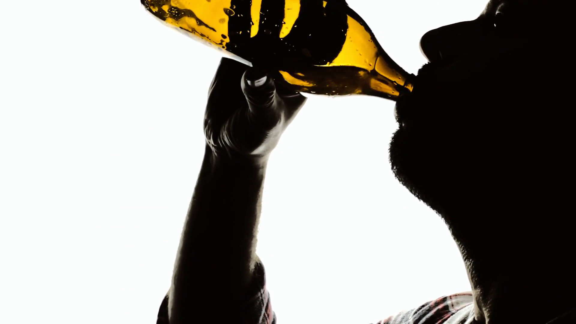 1920x1080 Silhouette Sun Man Gre Emptying Beer Bottle. A Man Drinking Beer