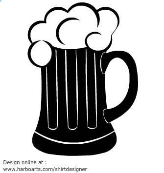 335x355 Beer Clipart Silhouette