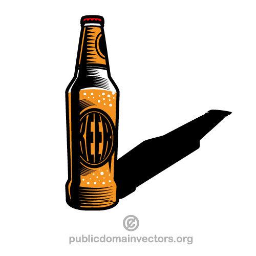Beer Bottle Vector Silhouette