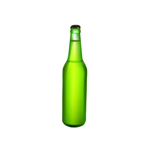 500x500 Free Beer Bottle Vector Silhouette