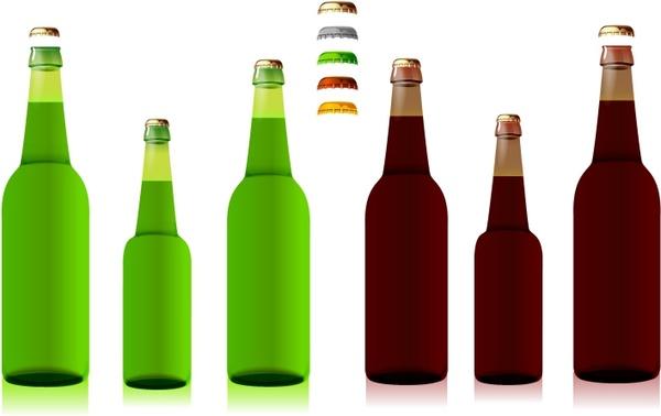 600x378 Beer Bottles Free Vector In Adobe Illustrator Ai ( Ai