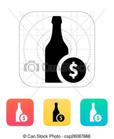 385x470 Beer Bottle Icon. Vector Illustration. Vector