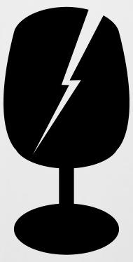 190x374 Gesplittertes Glas, Vorsicht Zerbrechlich Beer Mug Spreadshirt