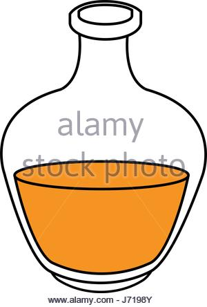 300x444 Black Silhouette Bottle With Oil Aroma Essence Bottle Stock Vector
