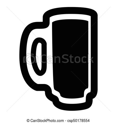 450x470 Isolated Beer Icon. Isolated Beer Mug Silhouette On A White