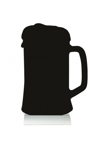 345x472 Silhouette Table Chalk Board Beer (Alu. Base)