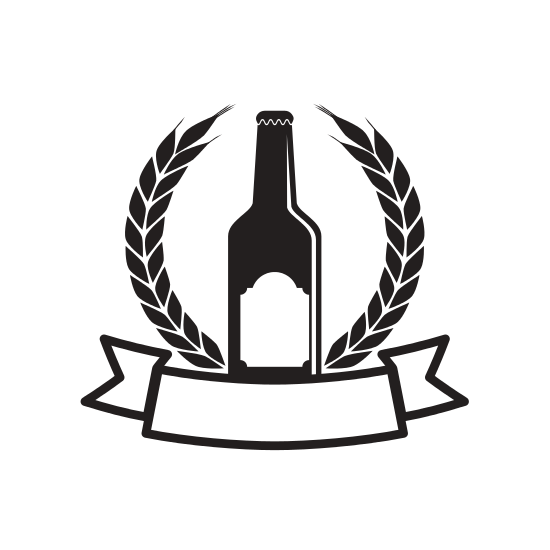 550x550 Beer And Brewery Silhouette Emblem