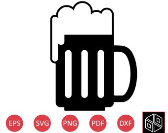 340x270 Beer Mug Svg File Etsy