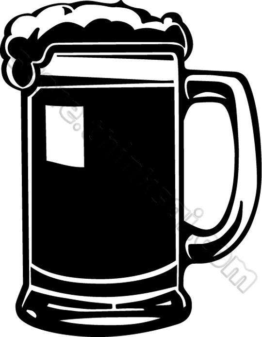 540x694 Beer Silhouette Clipart
