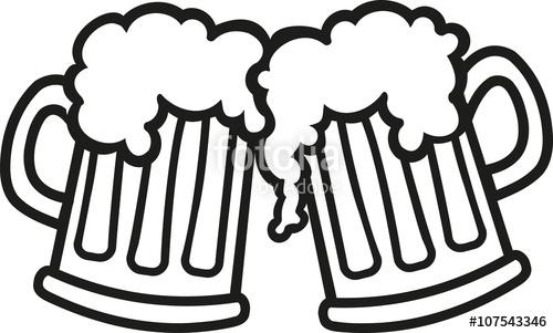 500x301 Beer Mugs Cartoon Cheers Stock Image And Royalty Free Vector
