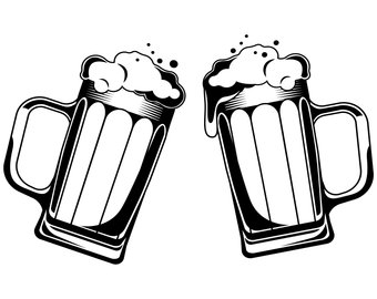 340x270 Beer Mugs Vector Etsy