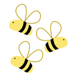 160x160 Silhouette Cute Bee Insect Animal Flying Stock Image And Royalty