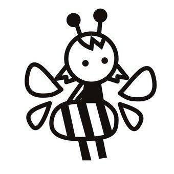 340x340 Free Silhouette Vector Bee, Asianigakubi, Up