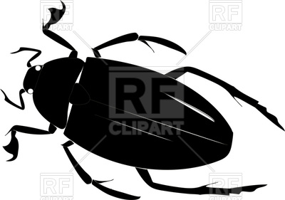 400x281 Simple Silhouette Of Beetle On A White Background Royalty Free