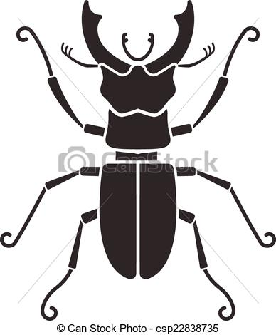 388x470 Stag Beetle Silhouette Vectors