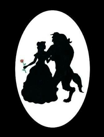 Belle And Beast Silhouette