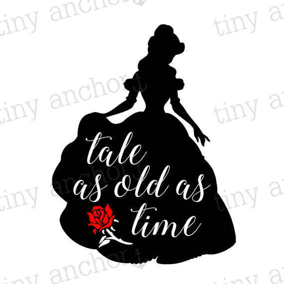570x570 Printable Tale As Old As Time Belle Silhouette Beauty And