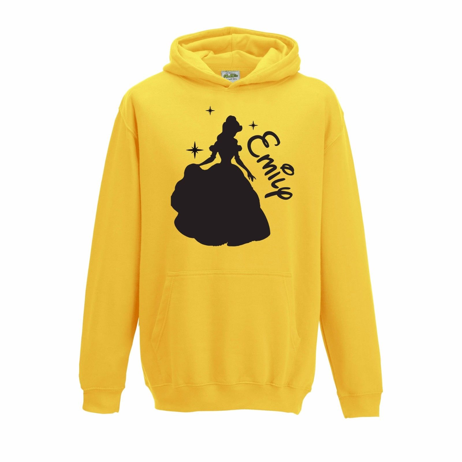 1600x1600 Personalised Silhouette Disney Belle Beauty Beast Inspired Name Hoodie