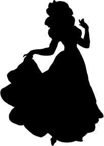205x287 Svg, Disney, Belle Silhouette, Beauty And The Beast, Belle, Cut