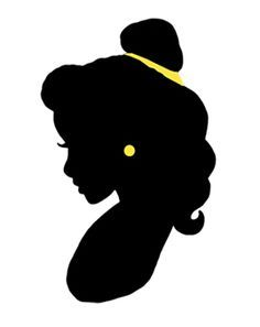 image regarding Disney Silhouette Printable referred to as Belle Silhouette Printable at  Absolutely free for