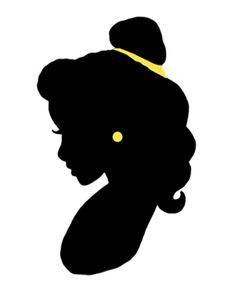 236x297 Belle Silhouette Disney Dayzz Belle, Silhouettes