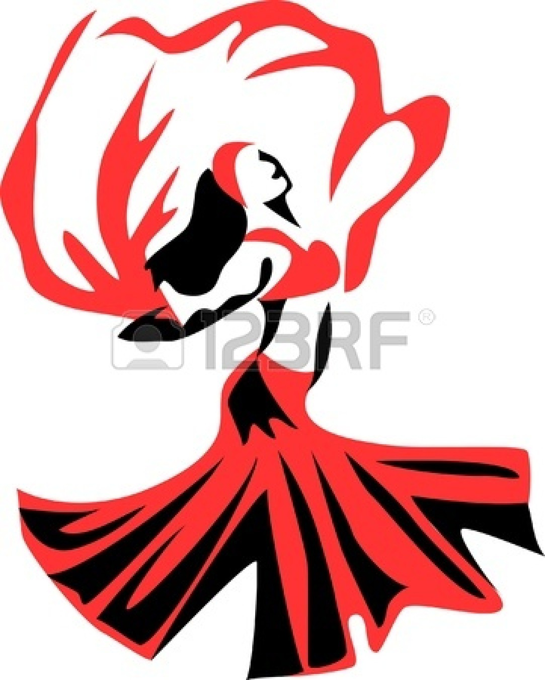 1083x1350 Belly Dancer With A Veil Stock Vector