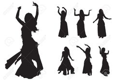 236x165 Belly Dancers 25 Free Vector Silhouettes Dance
