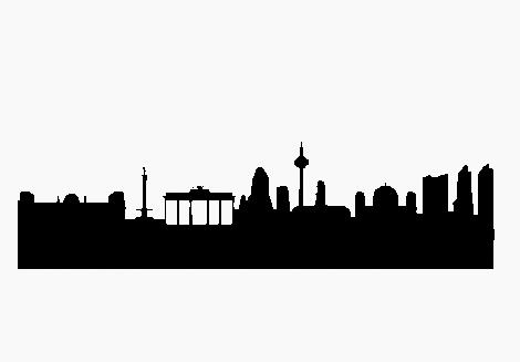 470x327 Berlin Skyline Werbe Aufkleber