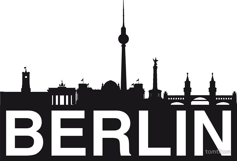 800x542 Berlin Skyline Stickers By Tomtitom Redbubble