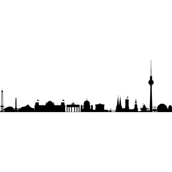 600x600 Berlin Skyline Silhouette Liked On Polyvore Featuring