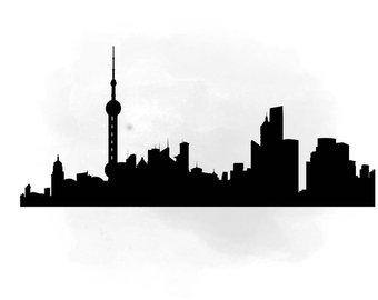 340x270 City Skyline Humburg Svg Clipart International City Digital