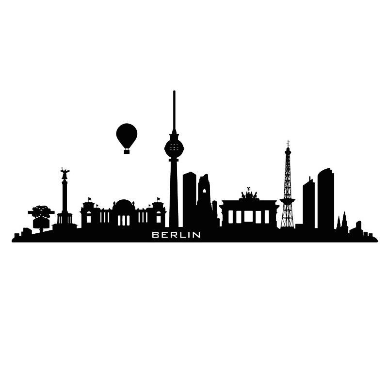 800x800 Hydrogen Balloon Berlin Wall Sticker City Home Decor Living Room