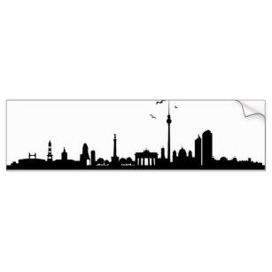 307x307 Silhouette Skyline Bumper Stickers