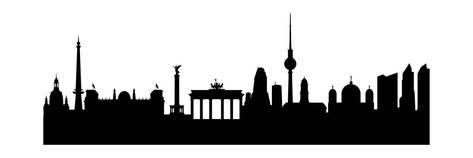 473x158 Berlin Silhouette Posters By Has Vektor