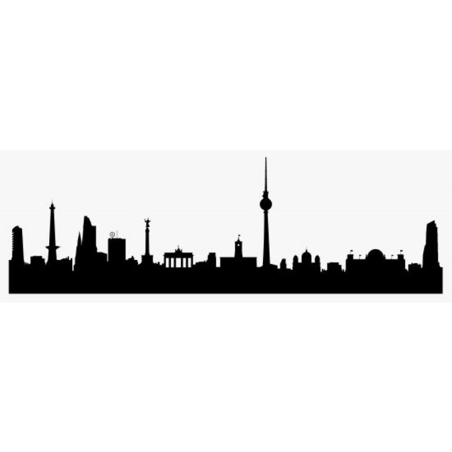 880x880 Sticker Skyline Berlin