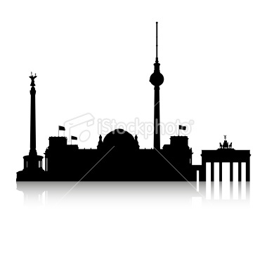 380x362 The Skyline Of Gemany's Capital Berlin With The City's Name