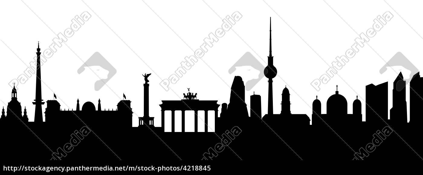 1400x582 Berlin Silhouette Abstrakt