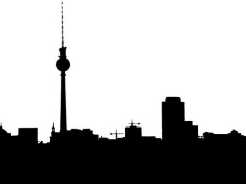 500x375 Berlin Skyline Simple Illustration Of The City's Skyline.