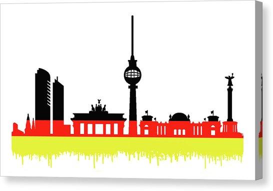 546x382 Berlin Skyline Canvas Prints